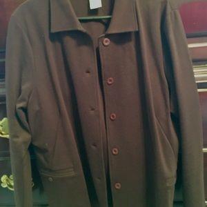 Talbots brown knit jacket